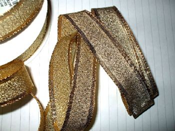25mm Gold Lame Ribbon x 5 mts